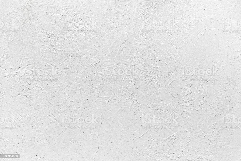 White concrete wall with plaster. Background texture stock photo