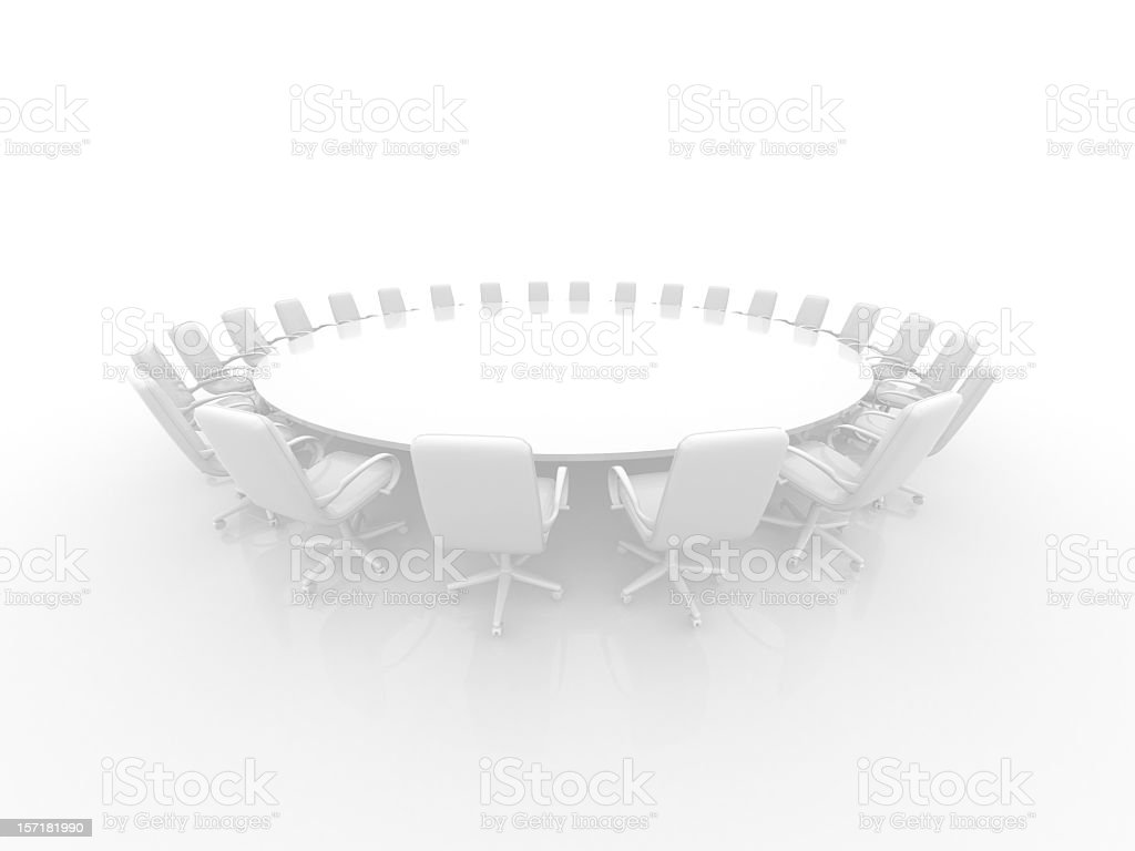 White Conference Table royalty-free stock photo