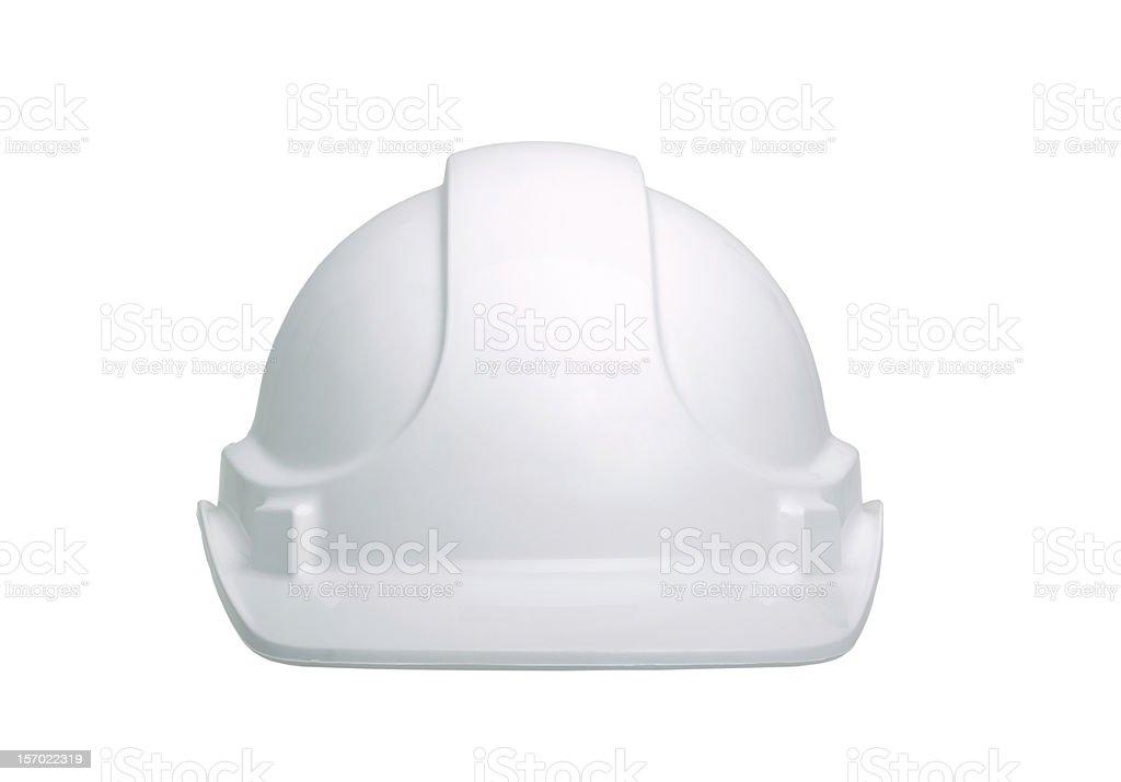White construction helmet on a white background stock photo