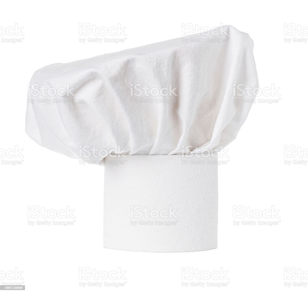 White cooks cap stock photo