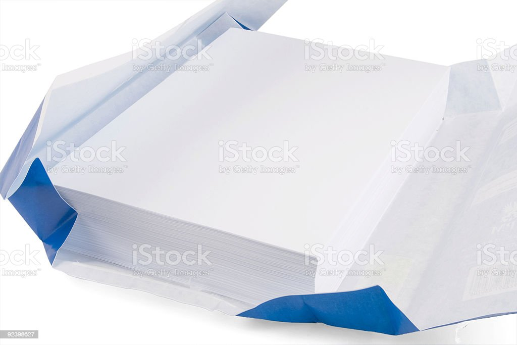 white copy paper stock photo