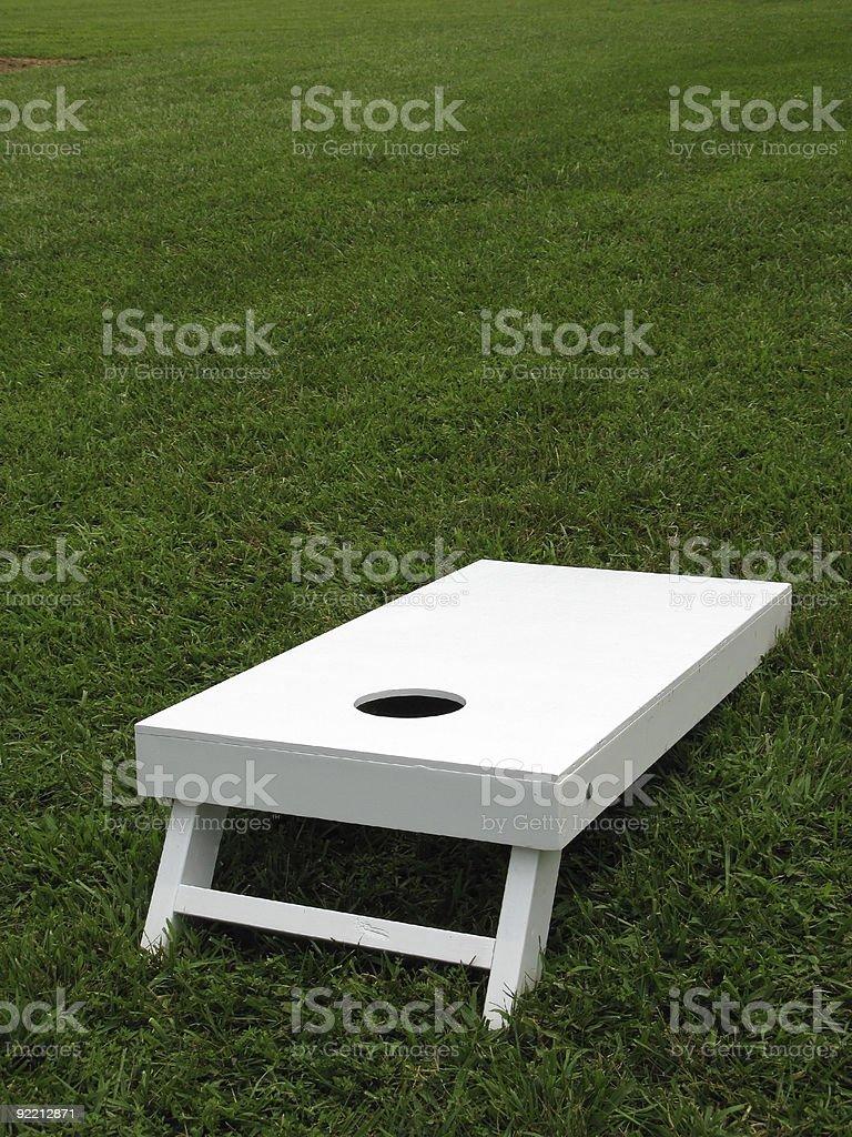 White Cornhole Board stock photo