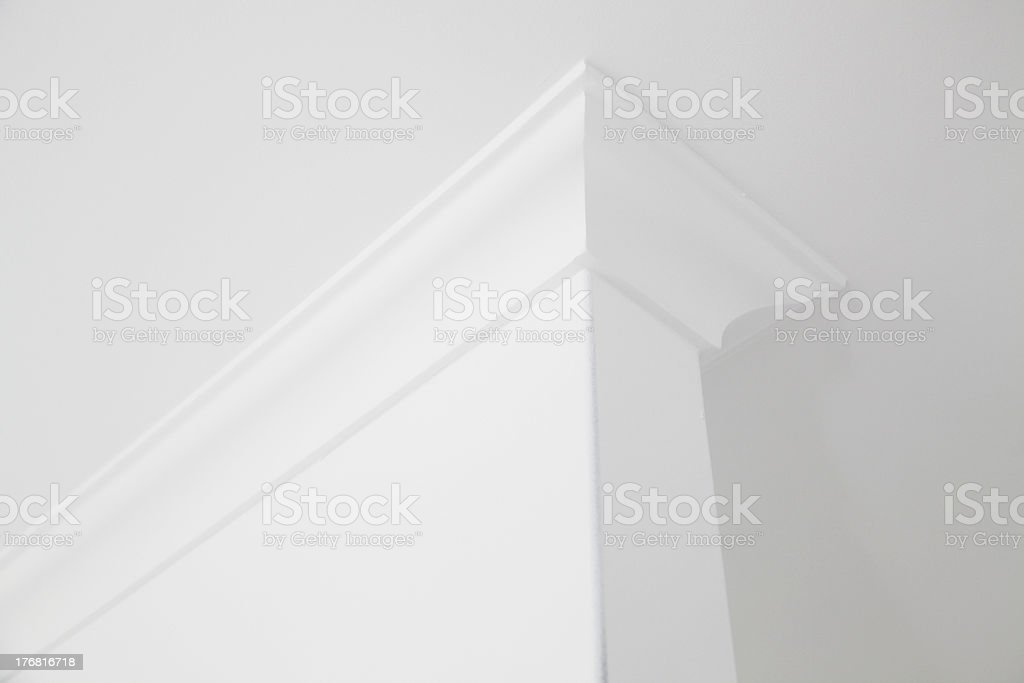 White cornice stock photo