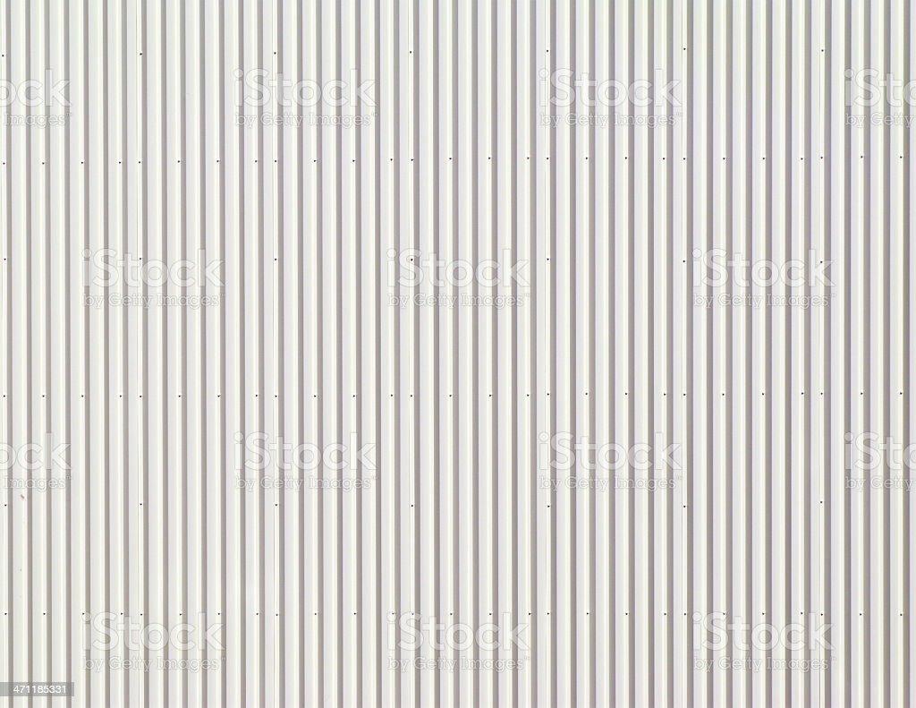 White Corrugated Metal Background. stock photo