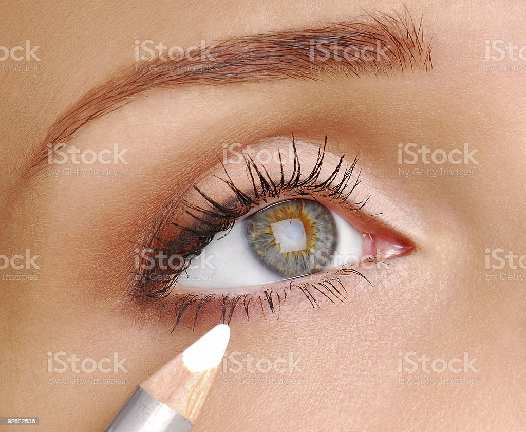 White Cosmetic pencil royalty-free stock photo