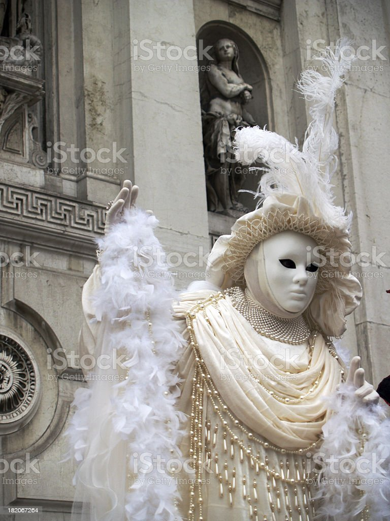 White Costume; Carnival in Venice. royalty-free stock photo