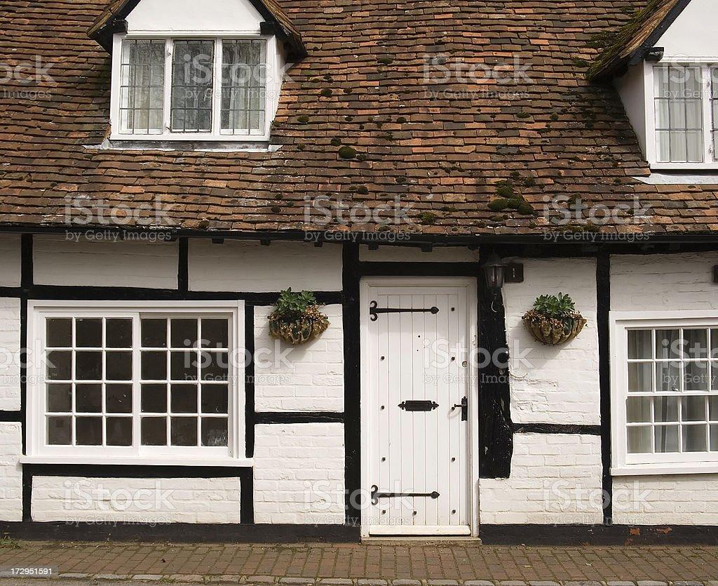 White cottage royalty-free stock photo