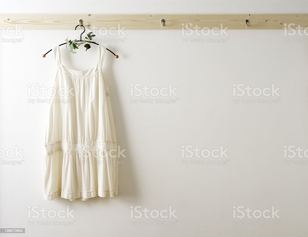 White cotton clothes royalty-free stock photo