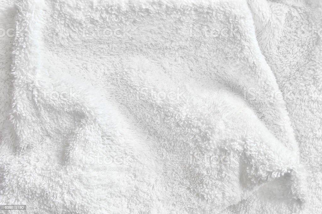 White Cotton Towel Terry Cloth Texture Stock Photo