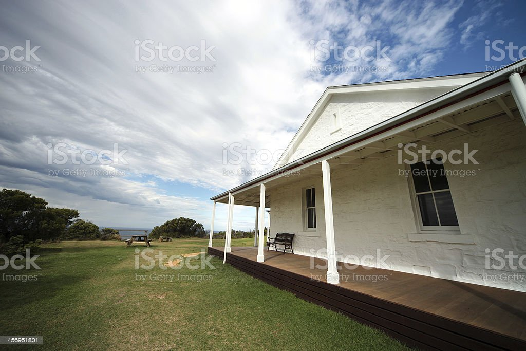 White country home stock photo