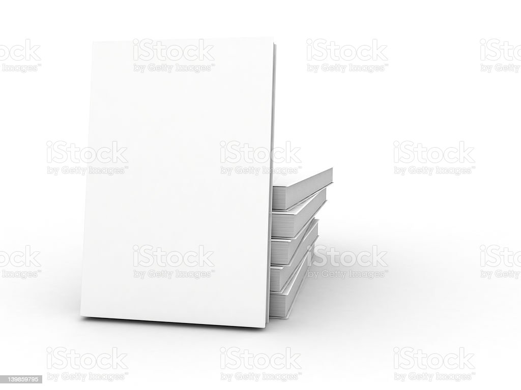 white cover book stock photo