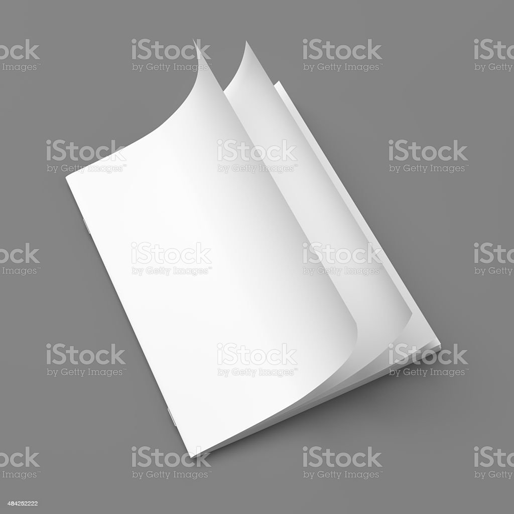 White cover empty magazine blank stock photo