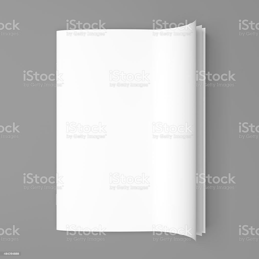 White cover empty magazine blank stock photo