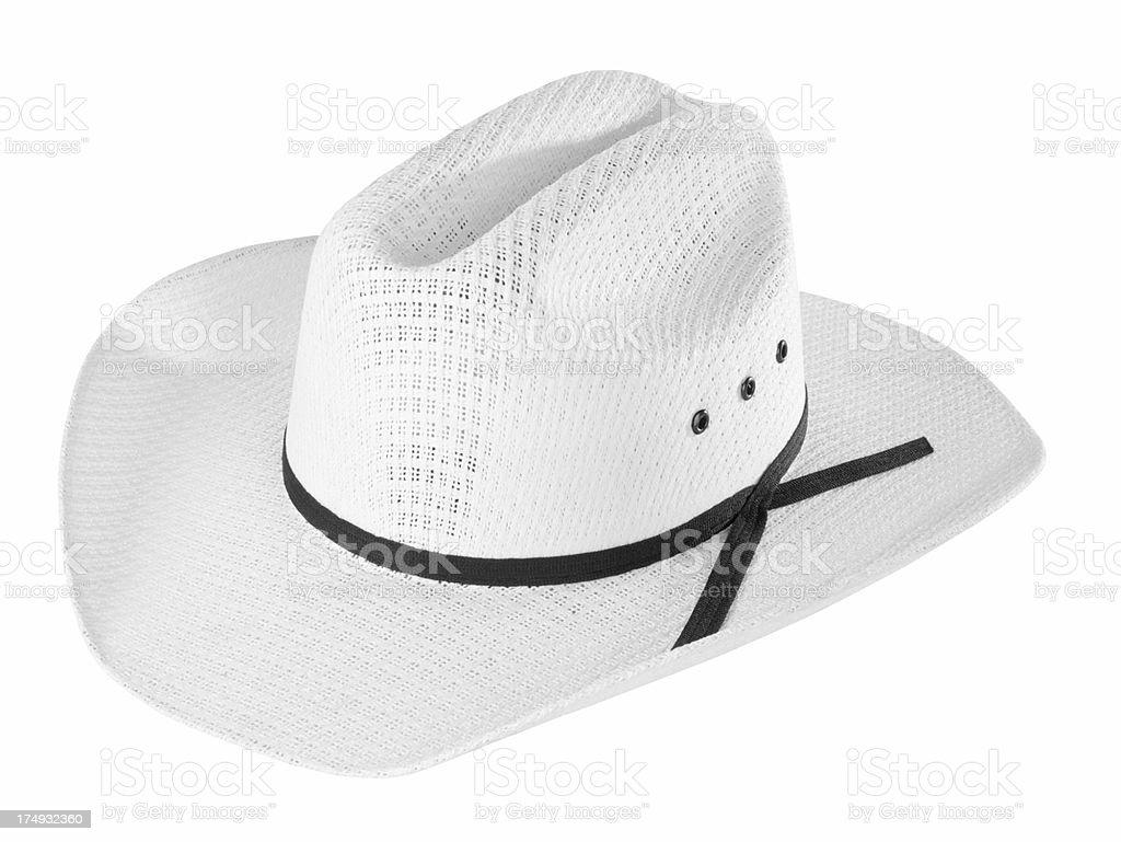 White Cowboy Hat royalty-free stock photo