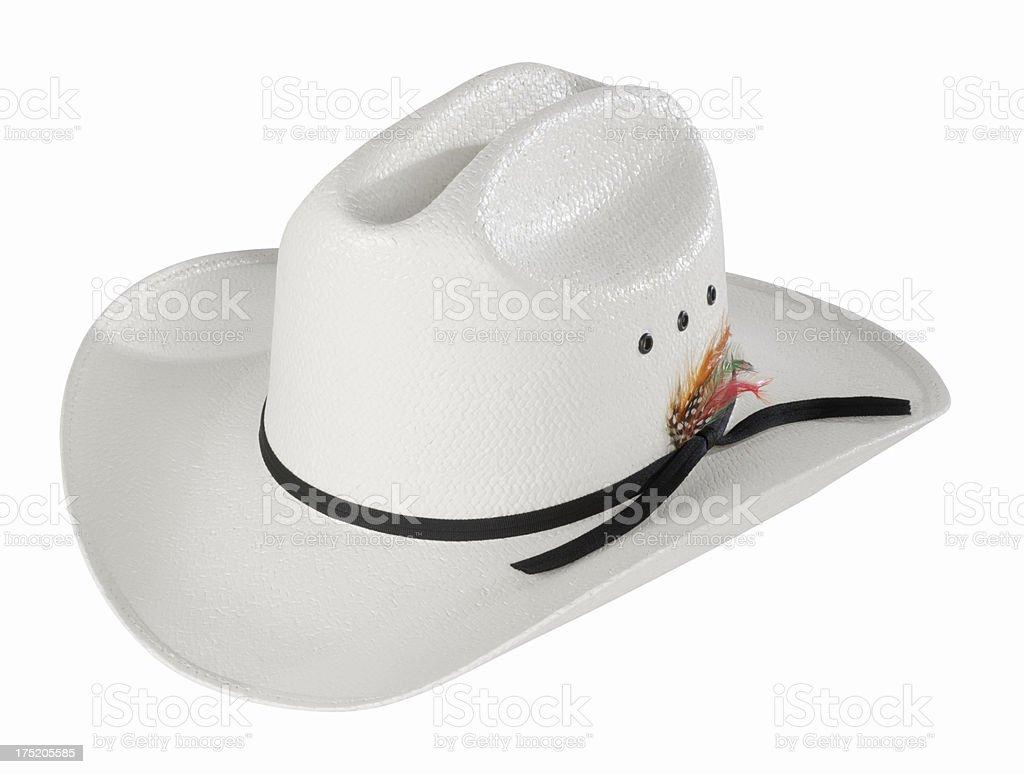 White Cowboy Hat stock photo