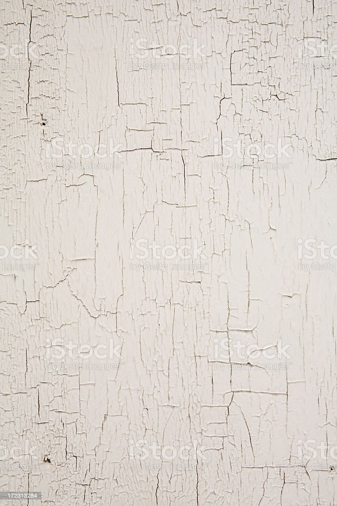 White crackled/chipping paint background stock photo
