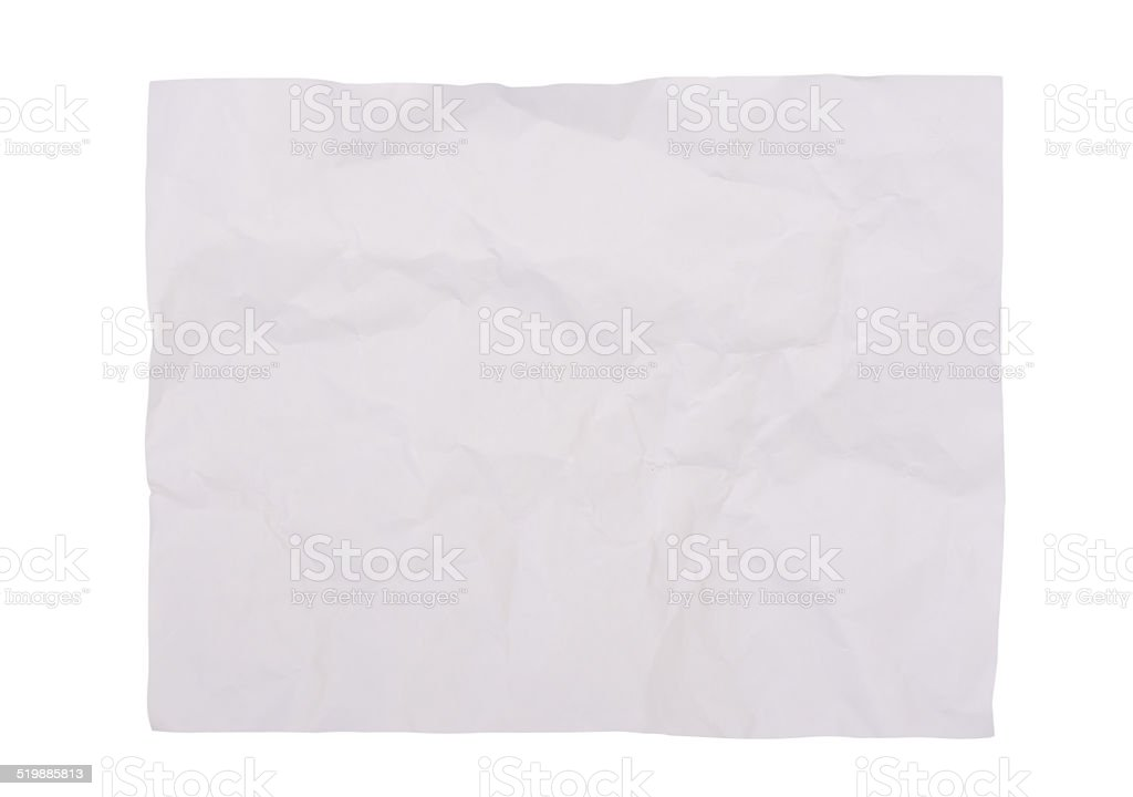 White creased paper background texture stock photo