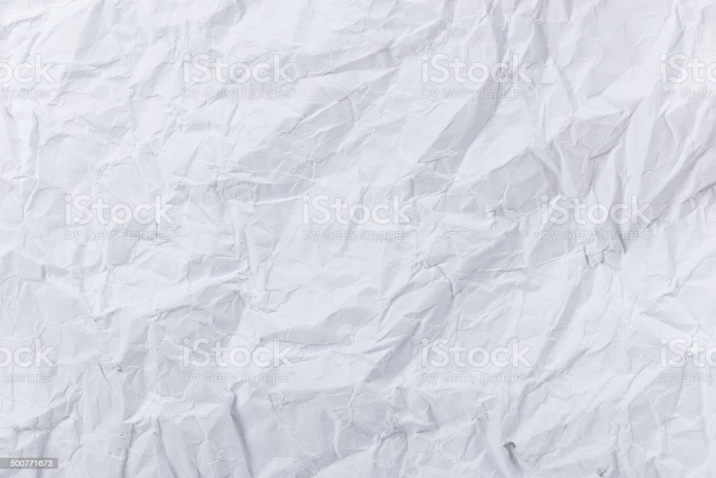 White creased paper stock photo