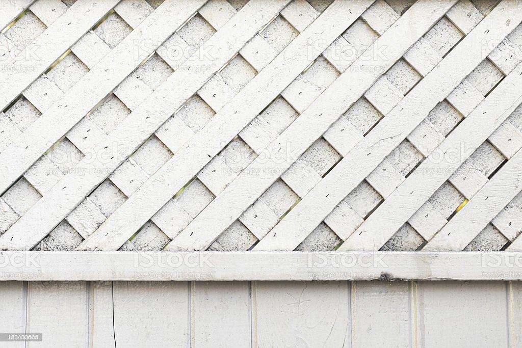 White Crisscross Fence stock photo