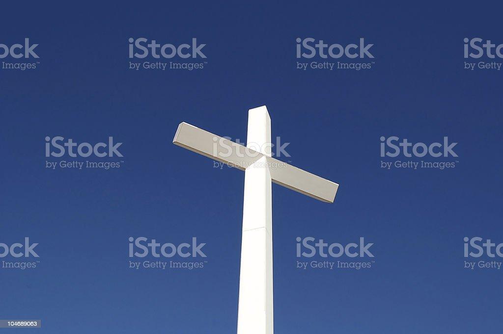 White cross royalty-free stock photo