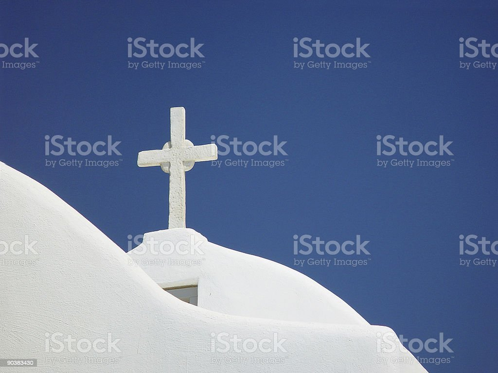 White cross royalty-free stock photo