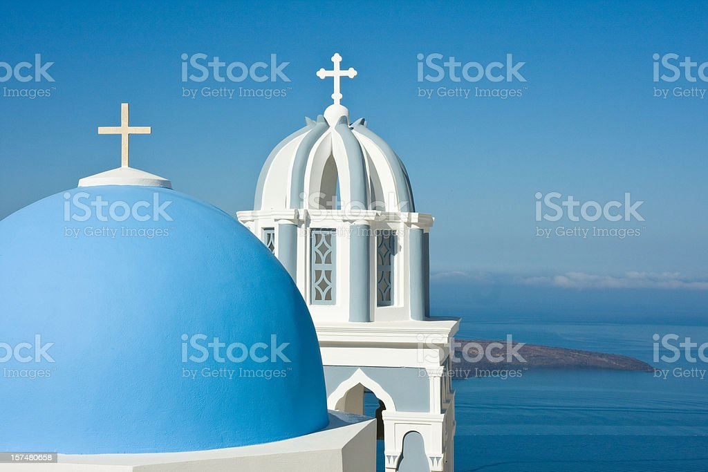 white crosses on blue royalty-free stock photo