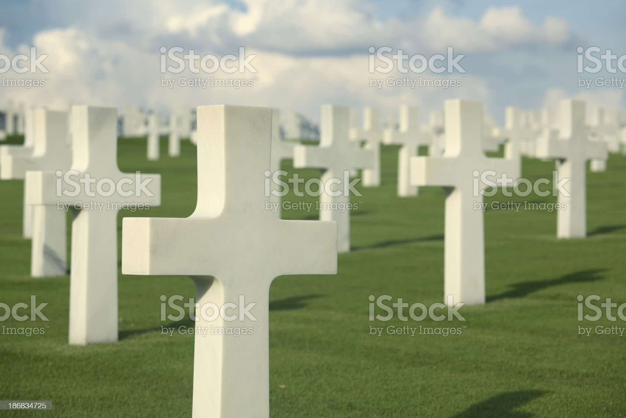 White crosses royalty-free stock photo