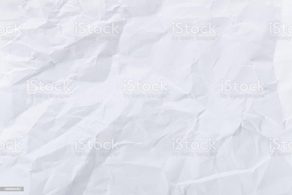 White crumple paper stock photo