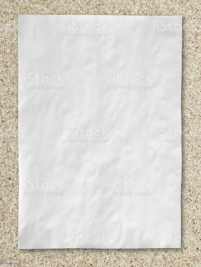 white crumpled paper on wood floor royalty-free stock photo