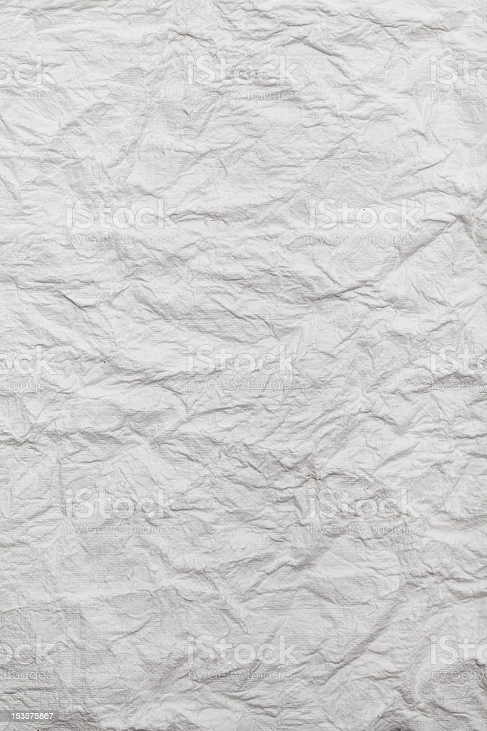 White crumpled paper royalty-free stock photo