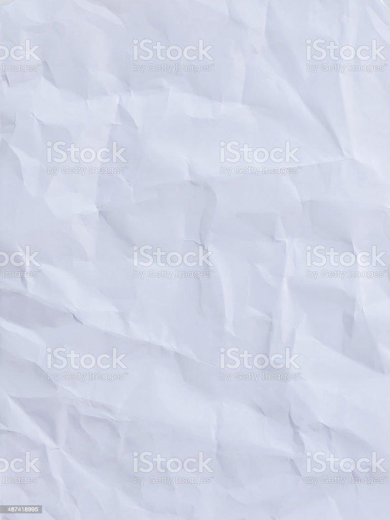 White crumpled paper stock photo