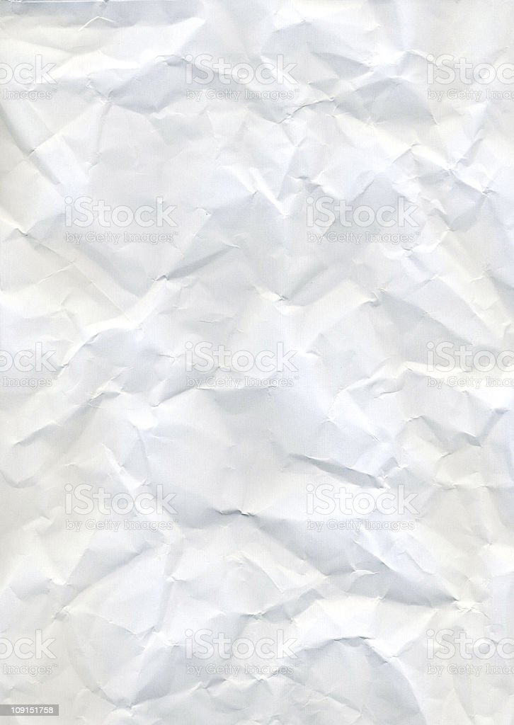 White crumpled paper texture background stock photo
