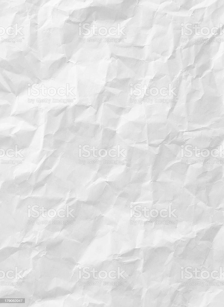 white crumpled paper texture stock photo
