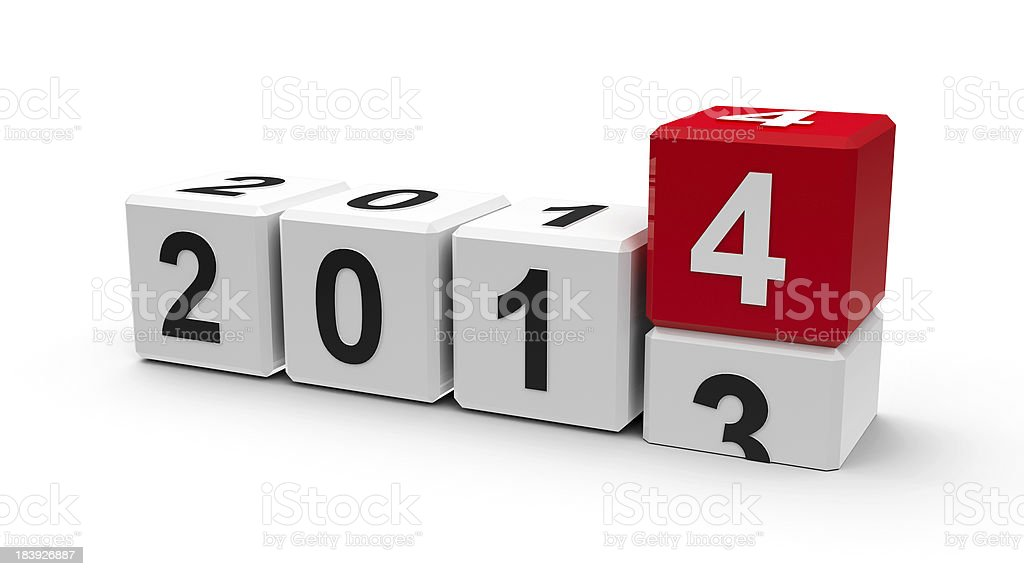 White cubes 2014 royalty-free stock photo