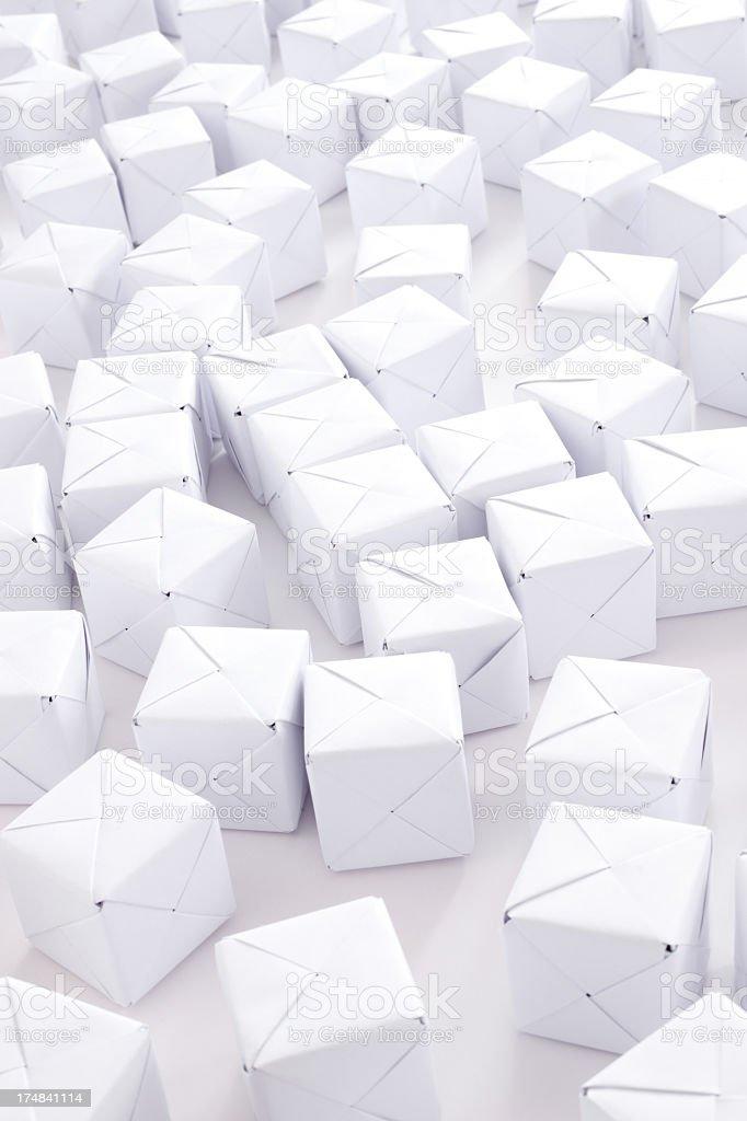 White cubes royalty-free stock photo