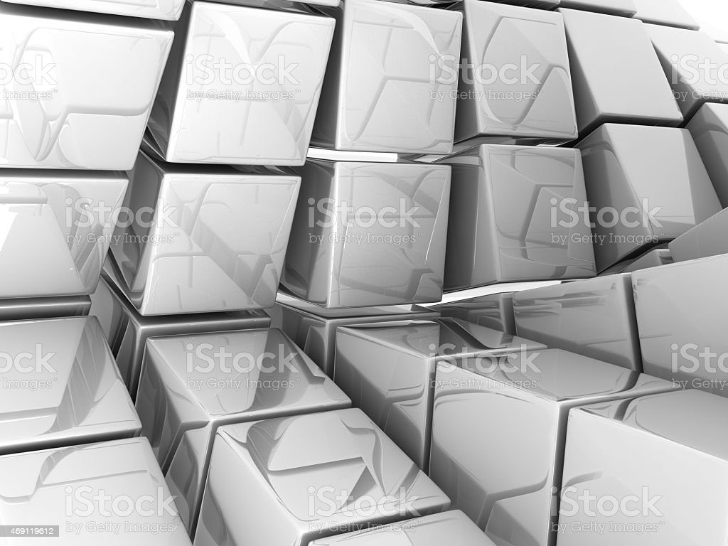 white cubes stock photo
