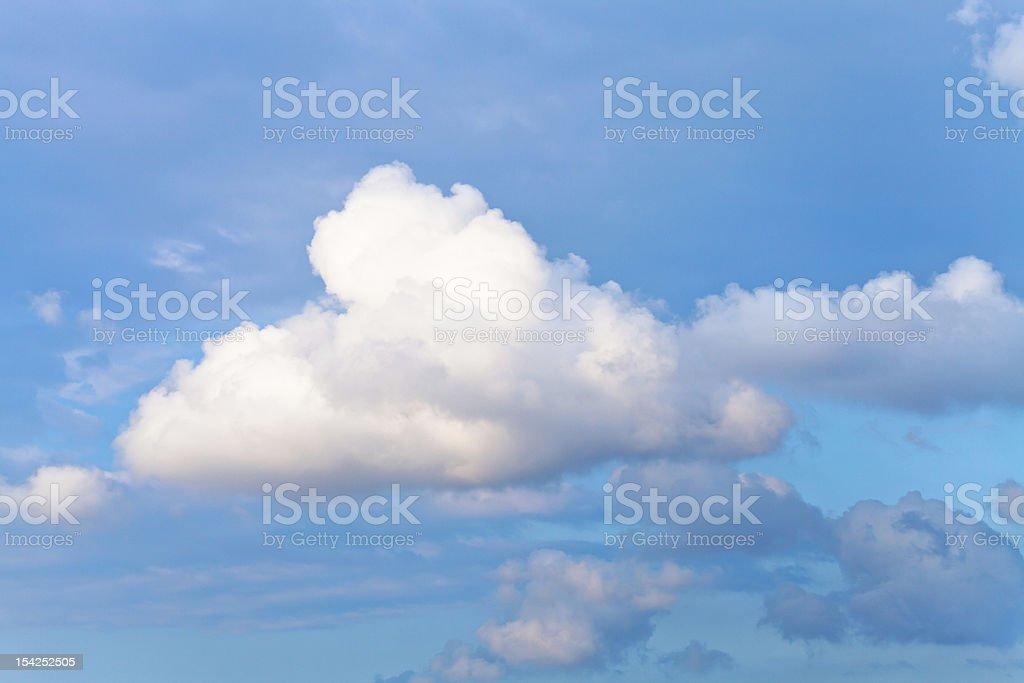 white cumulus cloud royalty-free stock photo