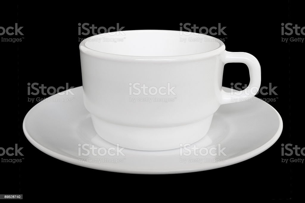 White cup and saucer royalty-free stock photo