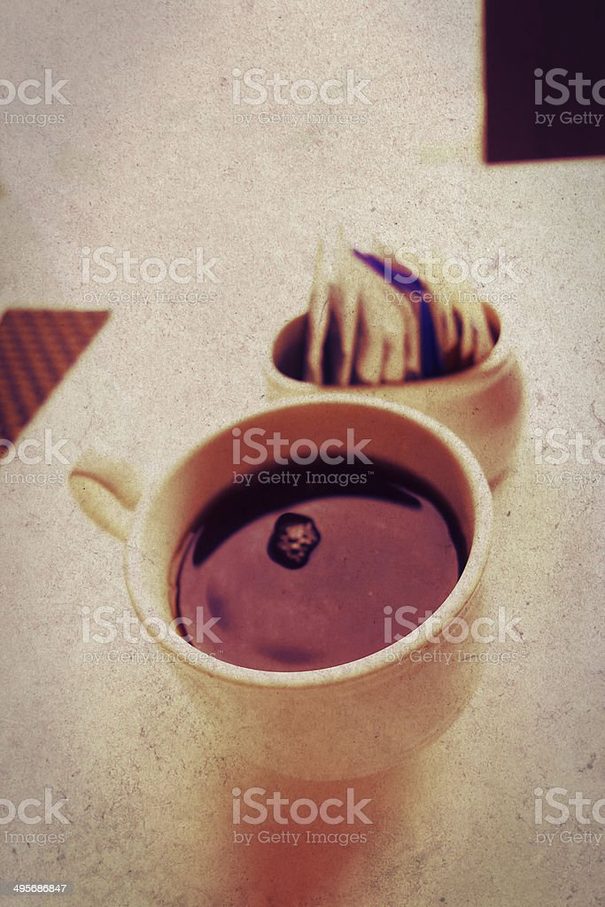 white cup dark coffee royalty-free stock photo