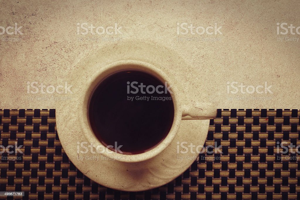 white cup of dark coffee royalty-free stock photo