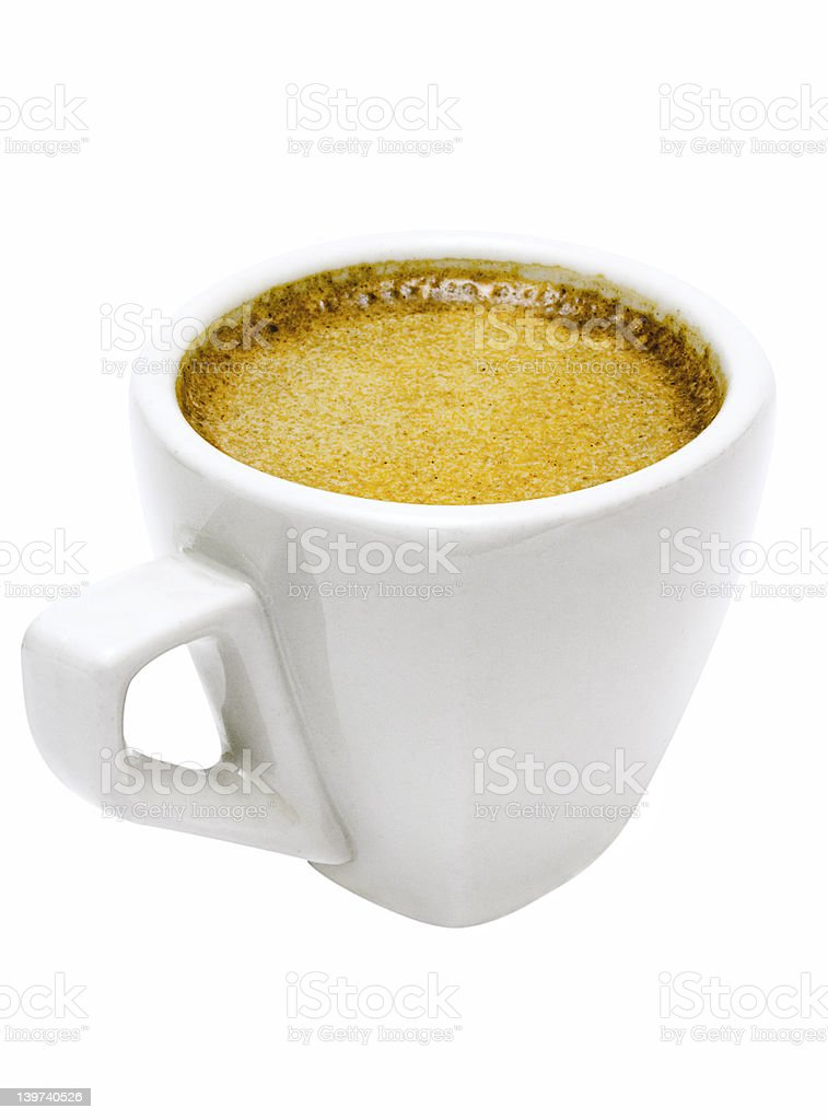 White Cup of Espresso w/ Path royalty-free stock photo