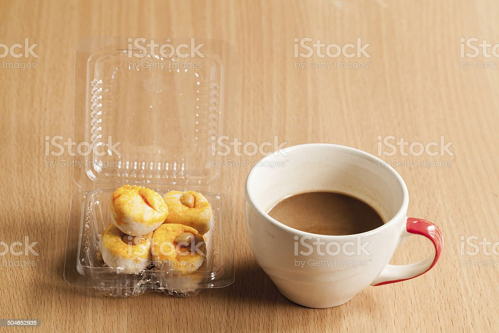 White cup  of instant coffee. royalty-free stock photo
