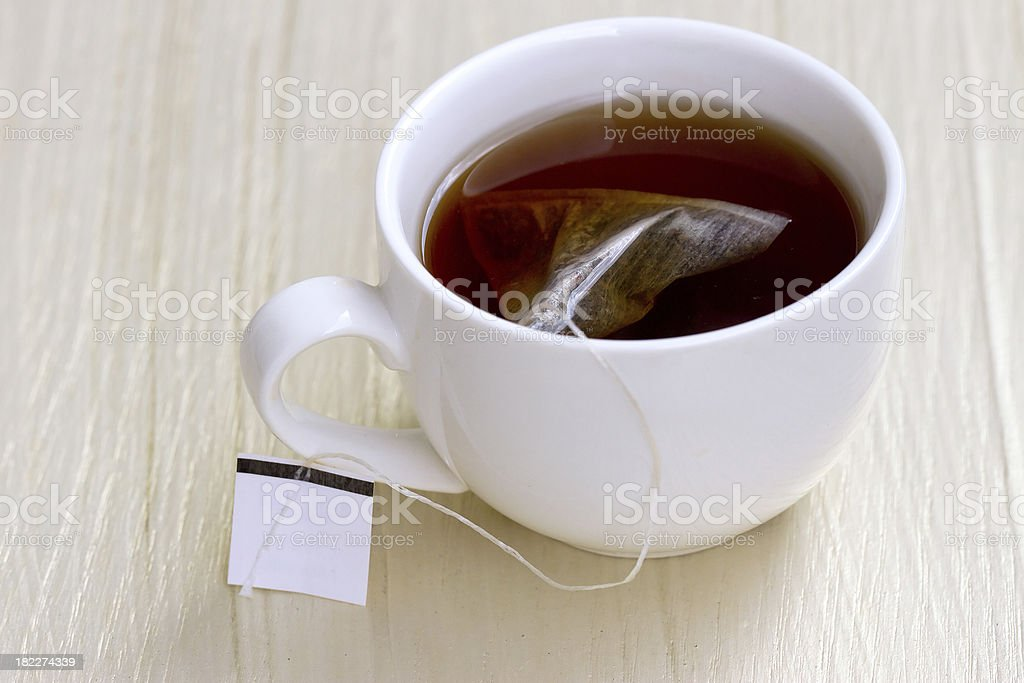 White cup of tea royalty-free stock photo