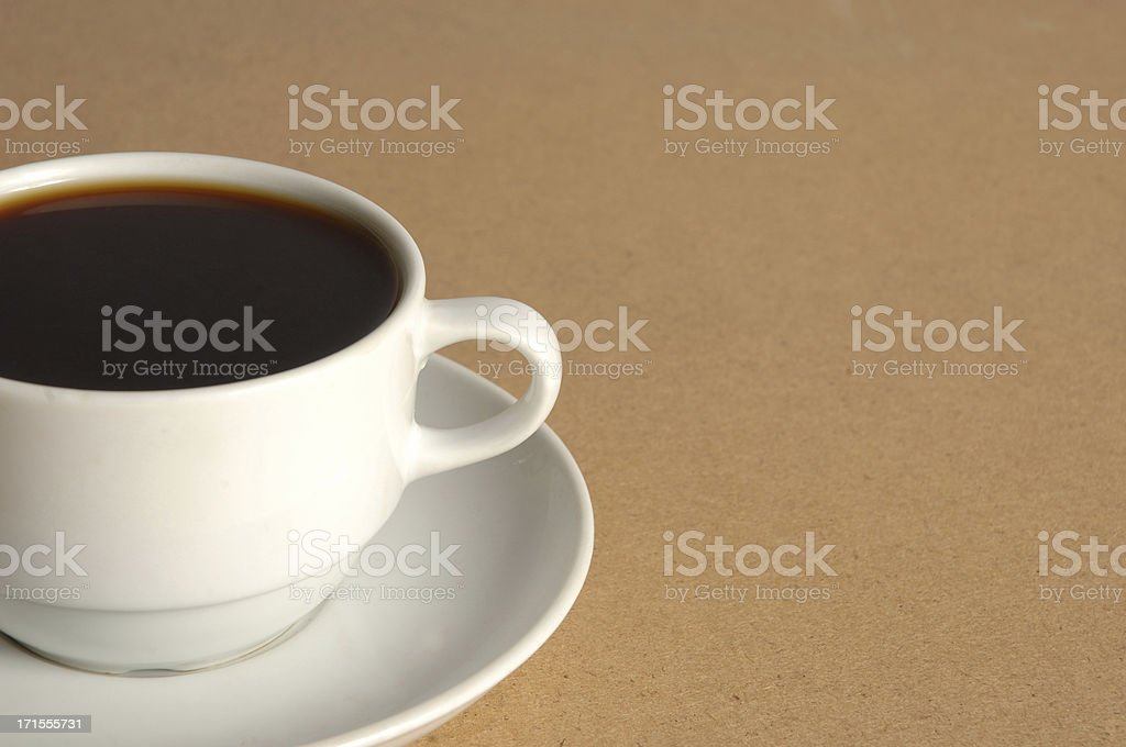 White cup on the table royalty-free stock photo