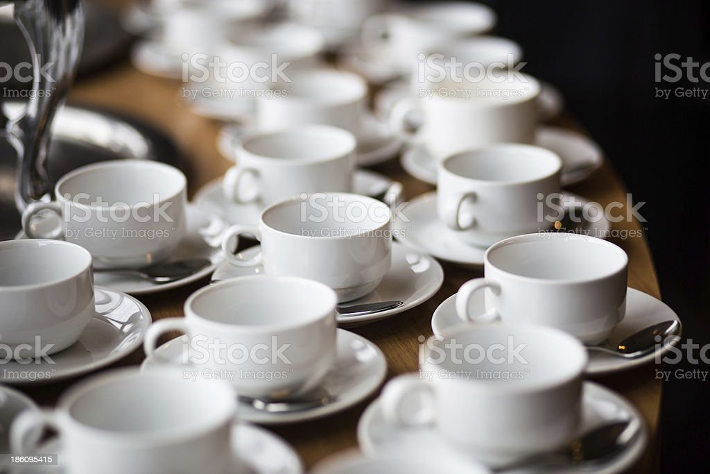White cups of coffee royalty-free stock photo