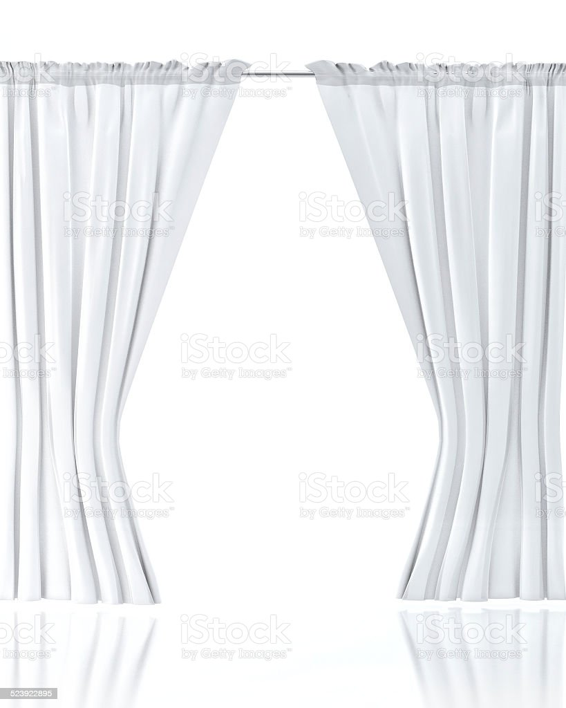 White curtain wallpaper - White Curtain Over White Background Royalty Free Stock Photo