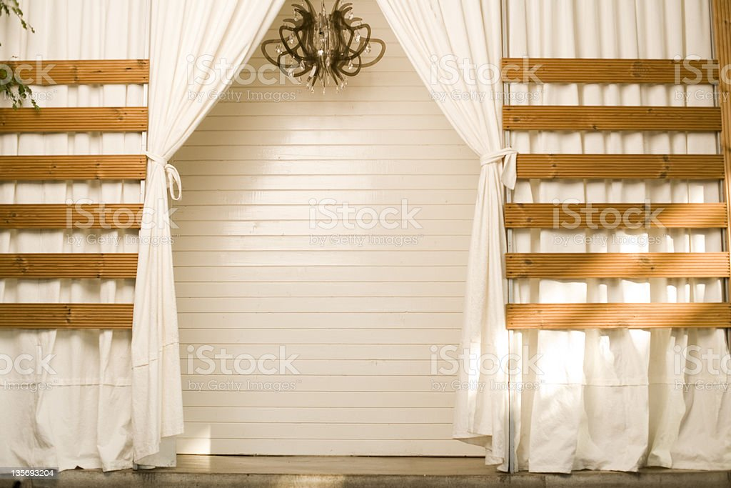 white curtains in a luxury place royalty-free stock photo