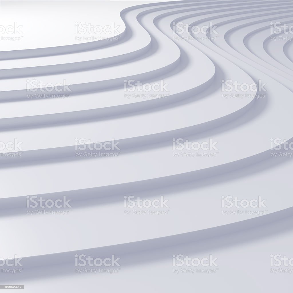 White curved steps as background royalty-free stock photo