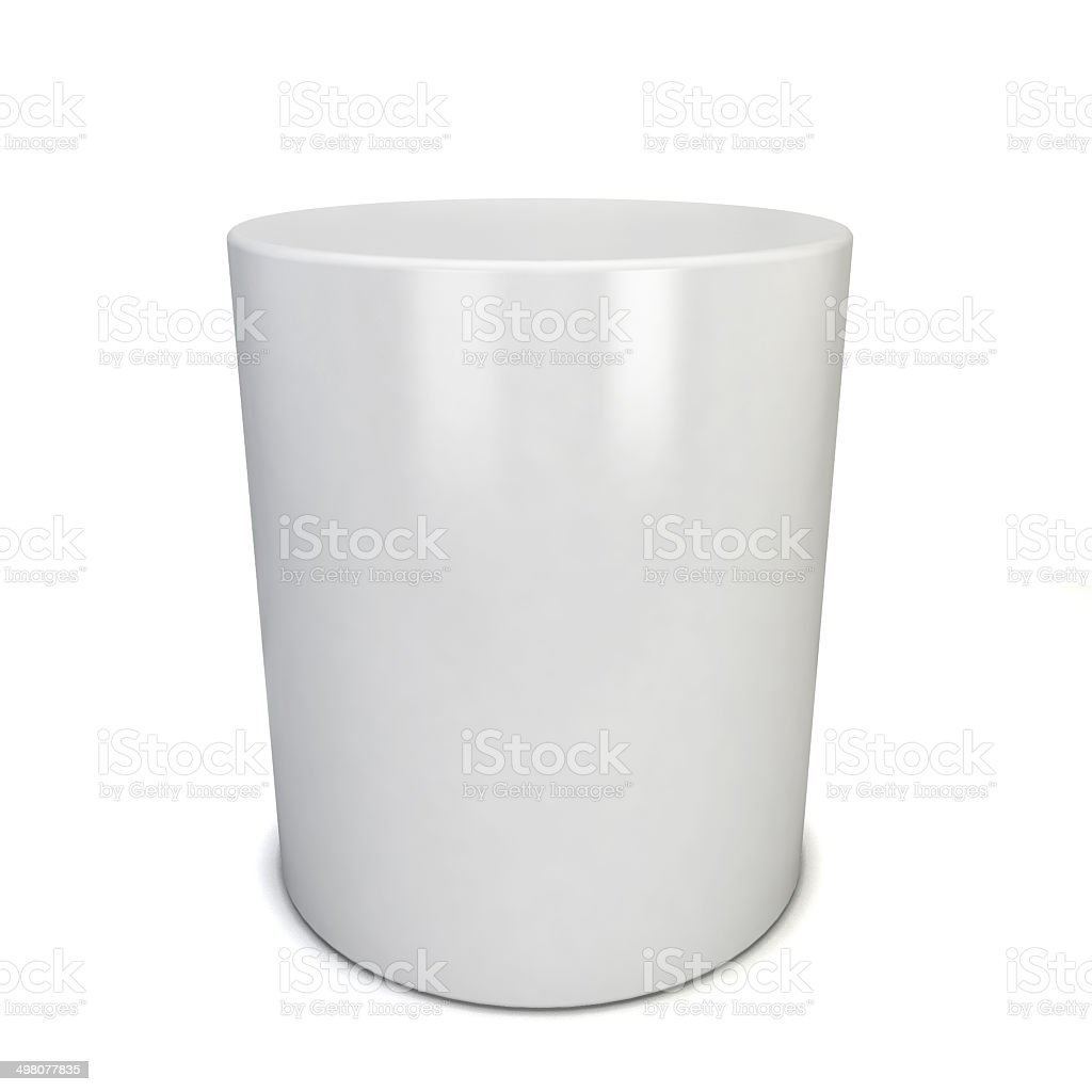 White cylinder stock photo