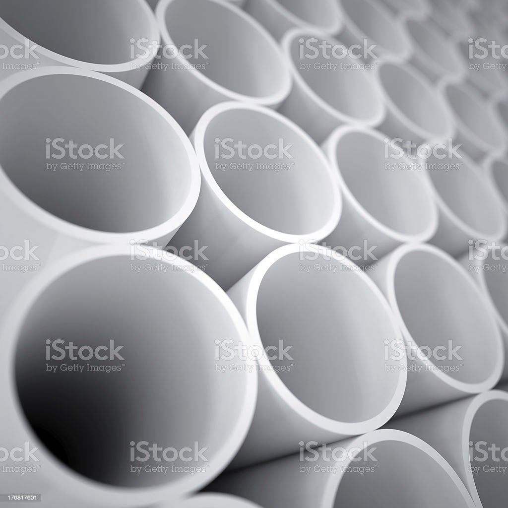 white cylinders royalty-free stock photo